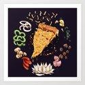 Pizza Mandala by sarahwrightart