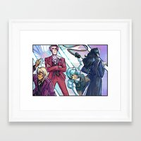 ace attorney Framed Art Prints featuring ace attorney- prosecutors by Frauleinandry