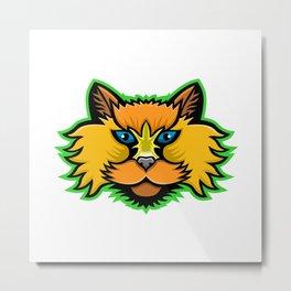 Selkirk Rex Cat Mascot Metal Print