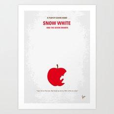 No252 My SNOW WHITE minimal movie poster Art Print