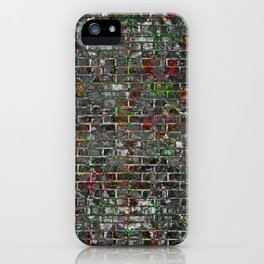 Grunge Wall Of Mould And Green iPhone Case