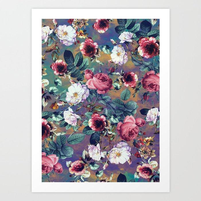 RPE Seamless Floral IV Art Print