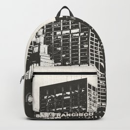 San Francisco Skyline Black and White Backpack