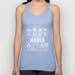 BOrn In March T-shirts Unisex Tank Top