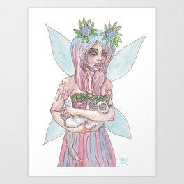 Fairy Cat Mother Art Print