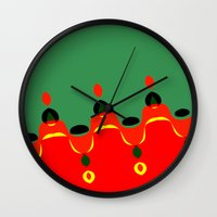 xmas Wall Clocks featuring xmas by Milenix Loerdi