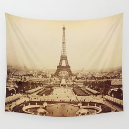 Eiffel Tower and Champ de Mars 1889 Paris Wall Tapestry