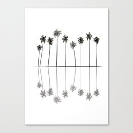 Palm Reflections II Canvas Print