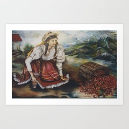 Colombian Coffee Harvest Art Print