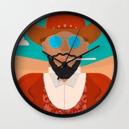 Django unchained, alternative movie poster, american western, minimalist movie poster Wall Clock