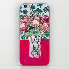 Bouquet of Proteas with Matisse Cutout Wallpaper iPhone Skin