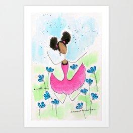 Tia Jump Art Print