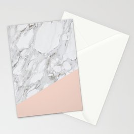 MARBLE AND PALE DOGWOOD DESIGN Stationery Cards