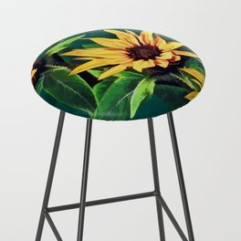 Watercolor sunflowers Bar Stool