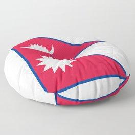 Nepal Flag Nepalese Nepali Triangle Flag Floor Pillow