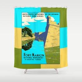Historic Fort Marion - Castillo de San Marcos - St. Augustine Florida Shower Curtain