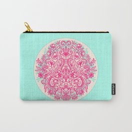 Spring Arrangement - floral doodle in pink & mint Carry-All Pouch