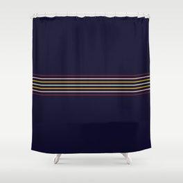 Thin Classic Retro Lines Shower Curtain