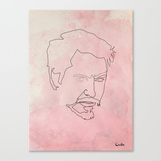 One line Tony Stark Canvas Print