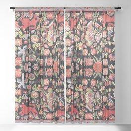 Täcke Antique Swedish Skåne Wedding Blanket Print Sheer Curtain