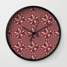 Abstract Circles Pattern Wall Clock