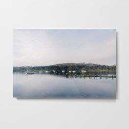 Boats on Lake Windermere at Waterhead. Cumbria, UK. Metal Print