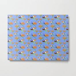 Birds Of Paradise And A Blue Blue Sky Metal Print