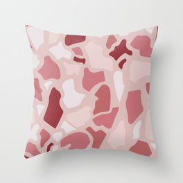 Abstract Terrazzo - Pink Quarz Throw Pillow