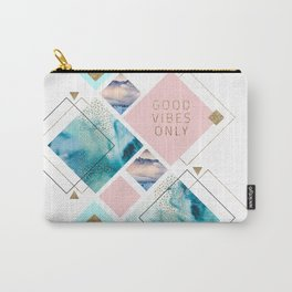 Good vibes geometric Carry-All Pouch
