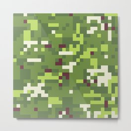 Camouflage military background in pixel style Metal Print