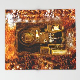 Vintage Victor Camera HDR Throw Blanket
