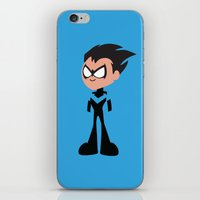 nightwing iPhone & iPod Skins featuring Nightwing by Adrian Mentus
