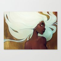 loish Canvas Prints featuring glow in the dark by loish