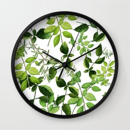 I Never Promised You an Herb Garden Wall Clock
