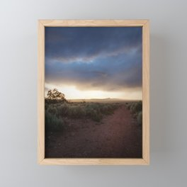 New Mexico Sunset Framed Mini Art Print