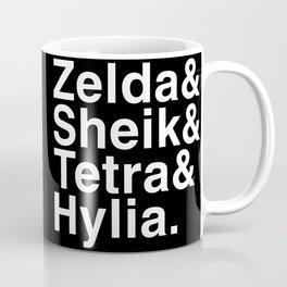 Zelda & Sheik & Tetra & Hylia helvetica list Coffee Mug