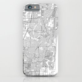 Fort Lauderdale White Map iPhone Case