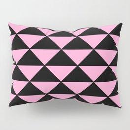 Graphic Geometric Pattern Minimal 2 Tone Infinity Triangles (Pastel Pink & Black) Pillow Sham