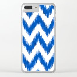 IKAT pattern, indigo blue and white, 03 Clear iPhone Case