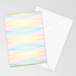 Pastel Colors Aztec Pattern. Stationery Cards