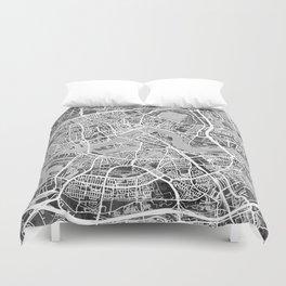 Rotterdam Netherlands City Map Duvet Cover