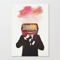 radiohead Canvas Prints featuring Radiohead by Daniel Taylor