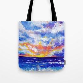 pea island sunrise Tote Bag