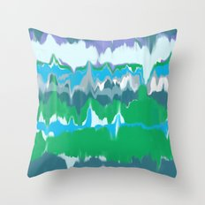 Marbled in jewel Throw Pillow
