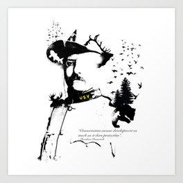 A man of the wild Art Print