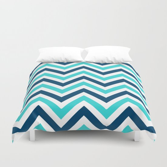 The Chevron has the Blues Duvet Cover