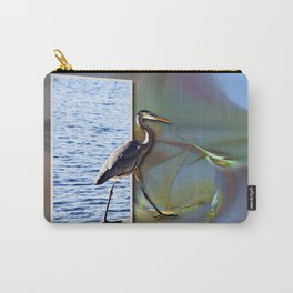 Blue Heron Strutting Out Of Frame Carry-All Pouch