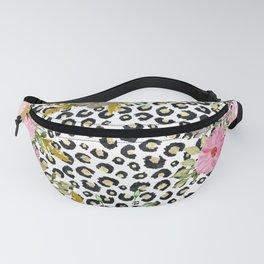 Elegant leopard print and floral design Fanny Pack