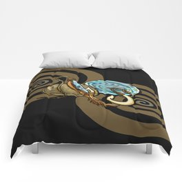 Abalone with Historic Maori Fishing Hooks Comforters