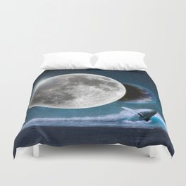 Blue Whale by GEN Z Duvet Cover